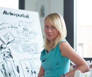 Sandra Schulze für econd im Atelier